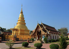 Thai temple of buddhism Royalty Free Stock Images