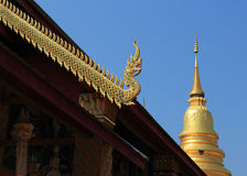 Thai temple of buddhism Royalty Free Stock Photo