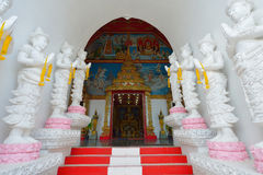 Thai temple of buddhism, Wat Sanpayang luang Royalty Free Stock Image