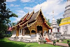 Thai temple;budhist temple Royalty Free Stock Image
