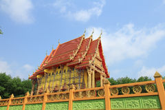 Thai temple building Royalty Free Stock Images