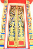 Thai temple building door Royalty Free Stock Photography