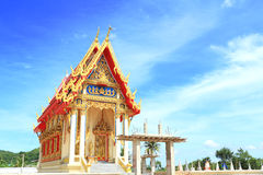 Thai temple building Royalty Free Stock Photos