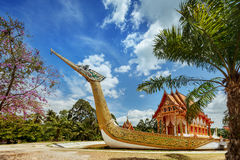 Thai temple built in the ark on the tropic Royalty Free Stock Photography