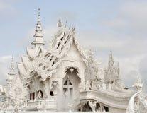 Thai temple called Wat Rong Khun Stock Photos