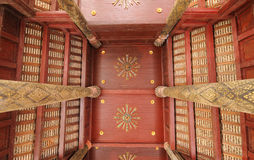 Thai temple ceiling. On top Stock Image