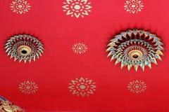 Thai temple ceiling closeup Stock Images