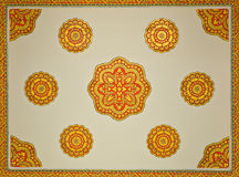 Thai temple ceiling decoration Stock Photography