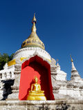 Thai temple. In the Chaing Mai Royalty Free Stock Photos