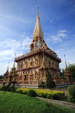 Thai Temple. Chalong temple Phuket Thailand the must see in phuket and very sacred place for Buddhist Royalty Free Stock Photos
