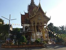 Thai temple. In Chang mai right before lantern festival Stock Photos