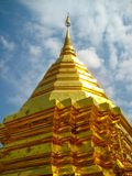 Thai Temple in Chiang Mai Golden Pagoda Stock Photo