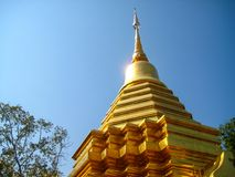 Thai Temple in Chiang Mai Golden Pagoda Stock Images