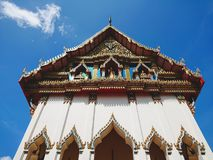 Thai temple church. Buddhism royalty free stock image