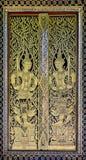 Thai temple door Royalty Free Stock Photography