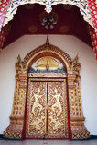 Thai temple door Royalty Free Stock Photos