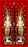Thai temple door Royalty Free Stock Photos