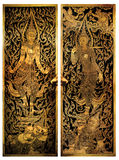 Thai Temple Door C005 Royalty Free Stock Photography