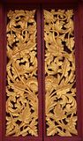 Thai Temple door carving stock images