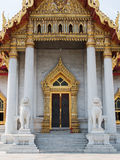 Thai temple door, Marble Temple or Wat Benchamabophit Royalty Free Stock Image