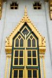 Thai temple door sculpture Stock Images