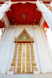 Thai temple door sculpture Stock Photos
