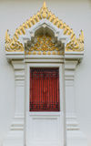 Thai temple door sculpture Royalty Free Stock Photos
