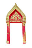 Thai temple door Royalty Free Stock Image