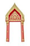 Thai temple door Royalty Free Stock Image