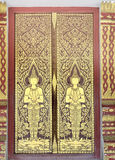 Thai temple doors. Royalty Free Stock Images