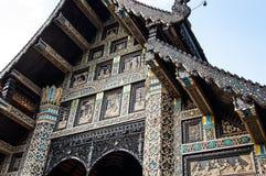 Thai temple facade. Ornate Lanna style temple facade (Wat Lok Molee), Chiang Mai, Thailand Stock Photos