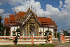 Thai Temple, The famous temple Wat Chulamanee from Phitsanulok, Thailand.  royalty free stock photography