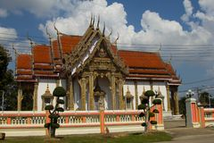 Thai Temple, The famous temple Wat Chulamanee from Phitsanulok, Thailand.  stock image