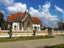 Thai Temple, The famous temple Wat Chulamanee from Phitsanulok, Thailand.  royalty free stock photos