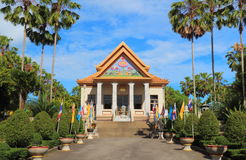 Thai temple in garden Royalty Free Stock Photography