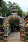 Thai temple gate. Royalty Free Stock Images