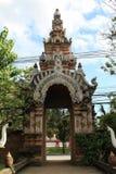 Thai temple gate. Royalty Free Stock Photos