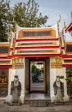 Thai temple gate. Traditional thai classical temple gate in bangkok Royalty Free Stock Images