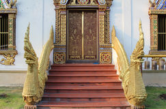 Thai temple gate Royalty Free Stock Photography