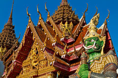Thai Temple with Giant Royalty Free Stock Photography