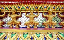 Thai temple giant mosaic Stock Photo