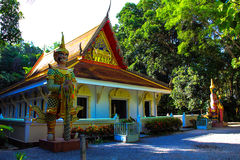 Thai temple with giant royalty free stock image