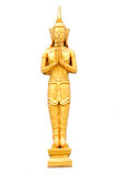 Thai Temple God in Gold isolated Stock Image