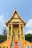 Thai temple gold building color and show art detail Stock Image
