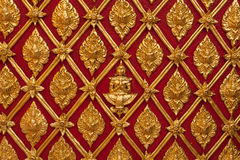 Thai Temple Golden Carving Wall Royalty Free Stock Image