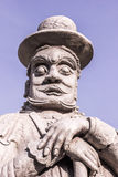 Thai temple guard_3. Stone god or demon guard of wat pho temple Royalty Free Stock Photos