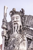 Thai temple guard_6. Stone god or demon guard of wat pho temple Stock Photos