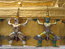 Thai temple guardians Royalty Free Stock Photo