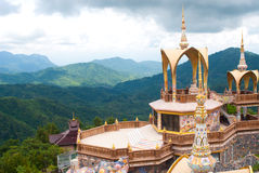 Thai temple on hight mountain. Stock Images