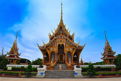 Thai Temple in  khonkane province Stock Photography